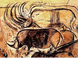 Herd of Rhinos Panel in Chauvet Cave