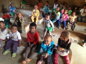 Friently Nursery Students at Awra Amba.