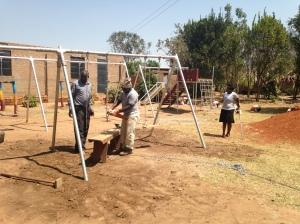 Installing Playground Equipment at a School near Lira, Uganda