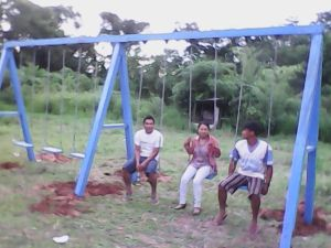 Swing Set Installed at a School near Puerto Maldonado in Eastern Peru.