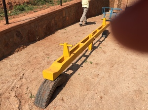 Wood Teeter Totter at Preschool Near Kigali