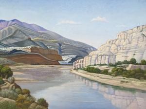 Green River Near Vernal, Utah, by Ernest G. Untermann Sr. (1952)