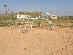 Monkey Bars installed at Preschool in Montezuma Creek, UT