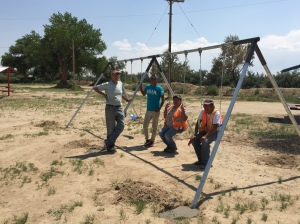 Double-wide Swing Set Installed in a Community Park in Shiprock, New Mexico