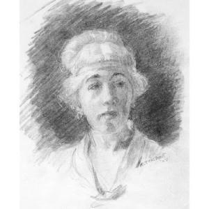 Minerva Teichert Self-Portrait
