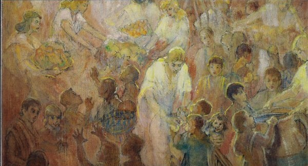 """Look to Your Children"" Book of Mormon Illustration by Minerval Teichert"