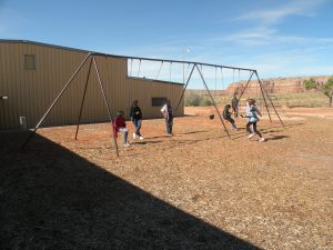 The Swing Set--at the Mission School--that Was Moved Being Enjoyed