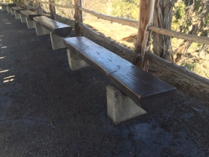 Log Bench with Concrete Legs, Mesa Verde National Park, Colorado