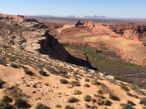 View Toward Monument Valley from the Poncho House Ruin Overlook
