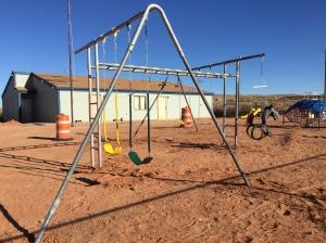 Swing/Monkey-Bar Set Installed at a Co-op Near Bluff UT