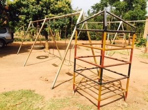 Colorful Tower installed at Survival School near Lira, Uganda