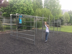 Large Jungle Gym Unit at a Primary School in American Fork, Utah