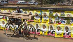 Presidential Campaign Posters Were Ubiquitous Throughout Uganda