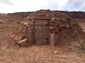 Entry to a Hogan in Piute Canyon near Navajo Mountain