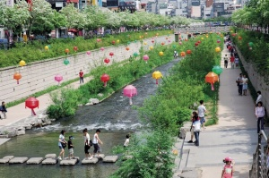 The River Walk in Downtown Seoul, Korea