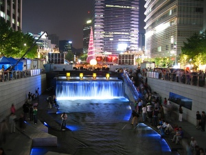 Nighttime on Seoul's Riverwalk is a Colorful Experience