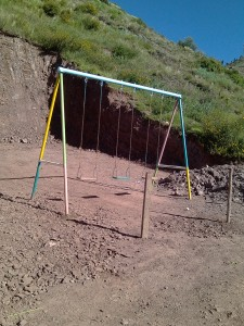 Swing Set We Installed While in Cuzco