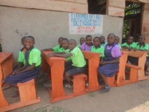 Desks Fabricated by the KAAYGO Woodworking Shop for Local Primary Schools