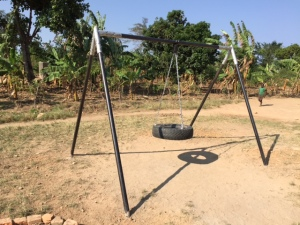 Tire Swing Installed south of Masaka