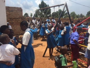 Swing Set Installed at a Small School near Kampala