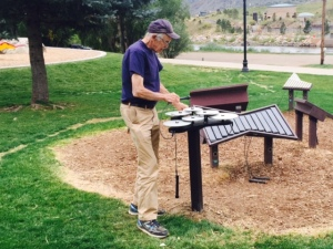 Outdoor Percussion Instruments at a Park in Durango CO