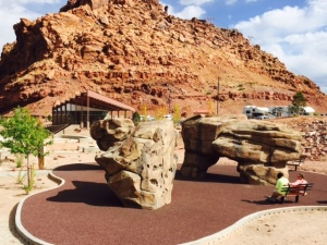 Bouldering Area in Lions' Park in Moab UT