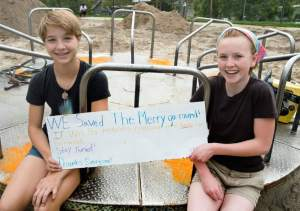Girls Who Saved a Merry-Go-Round in a Salt Lake City Park