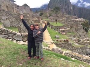 Rees and Marcia at Machu Picchu, Peru