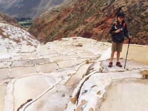 Salt Ponds near Urubamba, Peru