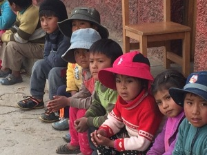 Children at an Andean School