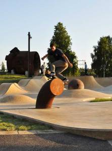 Skate-boarding Park in Lulea, Sweden