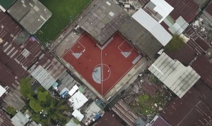 Crazy-Shaped Soccer Field in Bangkok, Thailand