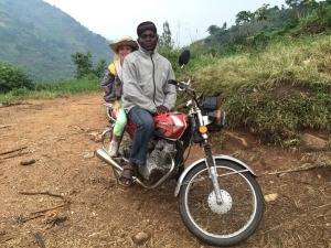 My Granddaughter Got to Lower Kalonge on a Boda-boda (Motorcycle Taxi)