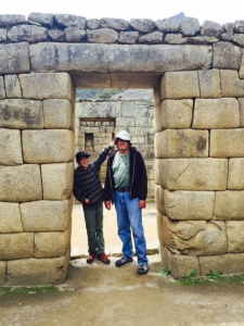 My Grandson Rees and I at Machu Picchu