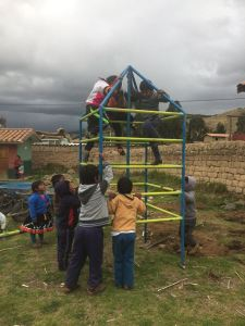 Children Enjoying a Climbing Prior to Installation