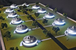Concept of a Dymaxion House Community