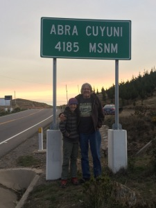 My Grandson and I at a Mountain Pass 13,700 Feet Above Sea Level