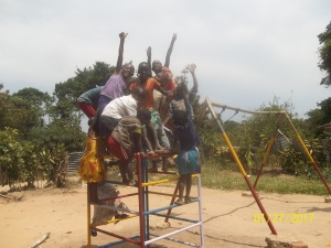 Bussi Island Children Enjoying Climbing Tower