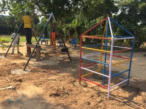 The New Climbing and Swing Set on Bussi Island