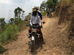 Using a Boda-Boda to Get to the Work Site