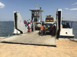Catching the Ferry Across an Arm of Lake Victoria