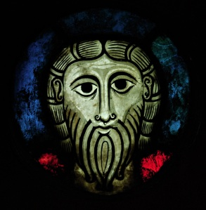 Head of Christ, Early Sainted Glass Image, Strasbourg